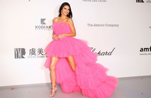 Kendall Jenner poses for photographers upon arrival at the amfAR, Cinema Against AIDS, benefit at the Hotel du Cap-Eden-Roc, during the 72nd international Cannes film festival, in Cap d'Antibes, southern FranceFrance Cannes 2019 amfAR - 23 May 2019