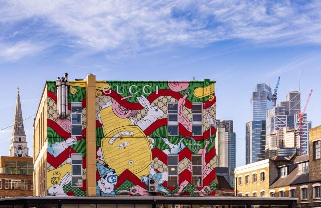Gucci Grip art mural in Brick Lane, London
