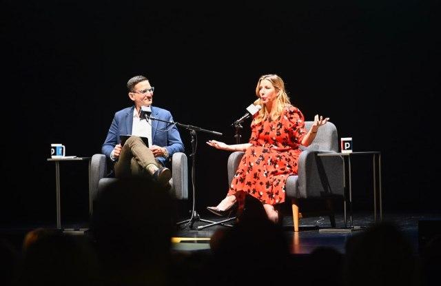 NPR's Guy Raz with Sara Blakely, founder of Spanx
