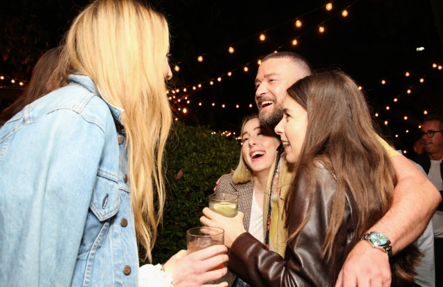Este Haim, Alana Haim, Justin Timberlake and Danielle Haim attend the Levi's Music Project with Justin Timberlake and FW19 Collection Launch at the Levi's Haus on Tuesday, Oct. 15, 2019, in Los Angeles. (Photo by Blair Raughley/Invision for Levi's/AP Images)