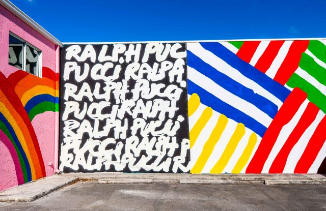 Jean-Charles de Castelbajac murals at  Ralph Pucci gallery in Miami.