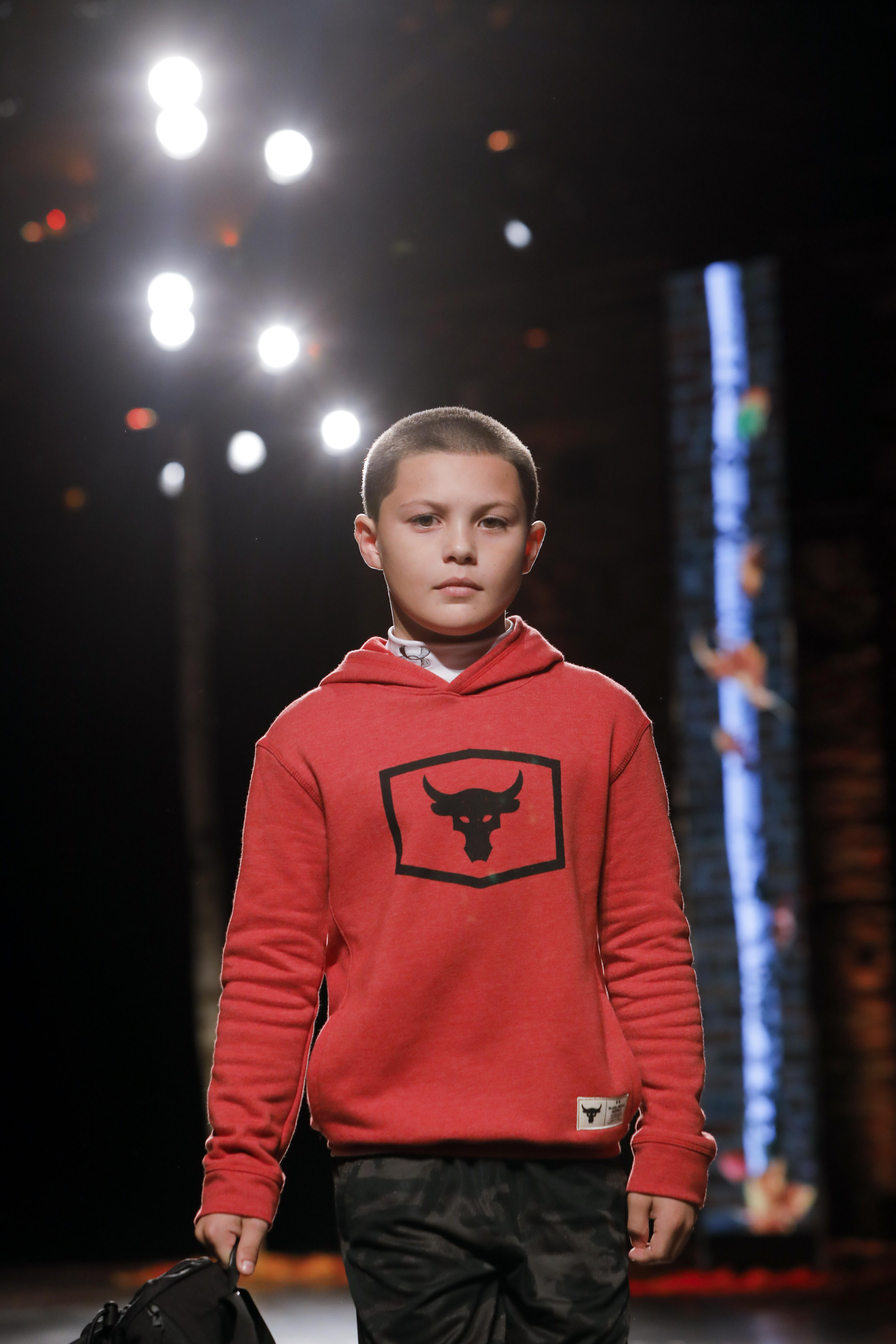 Javon Walton on the runway for Dick's Sporting Goods.