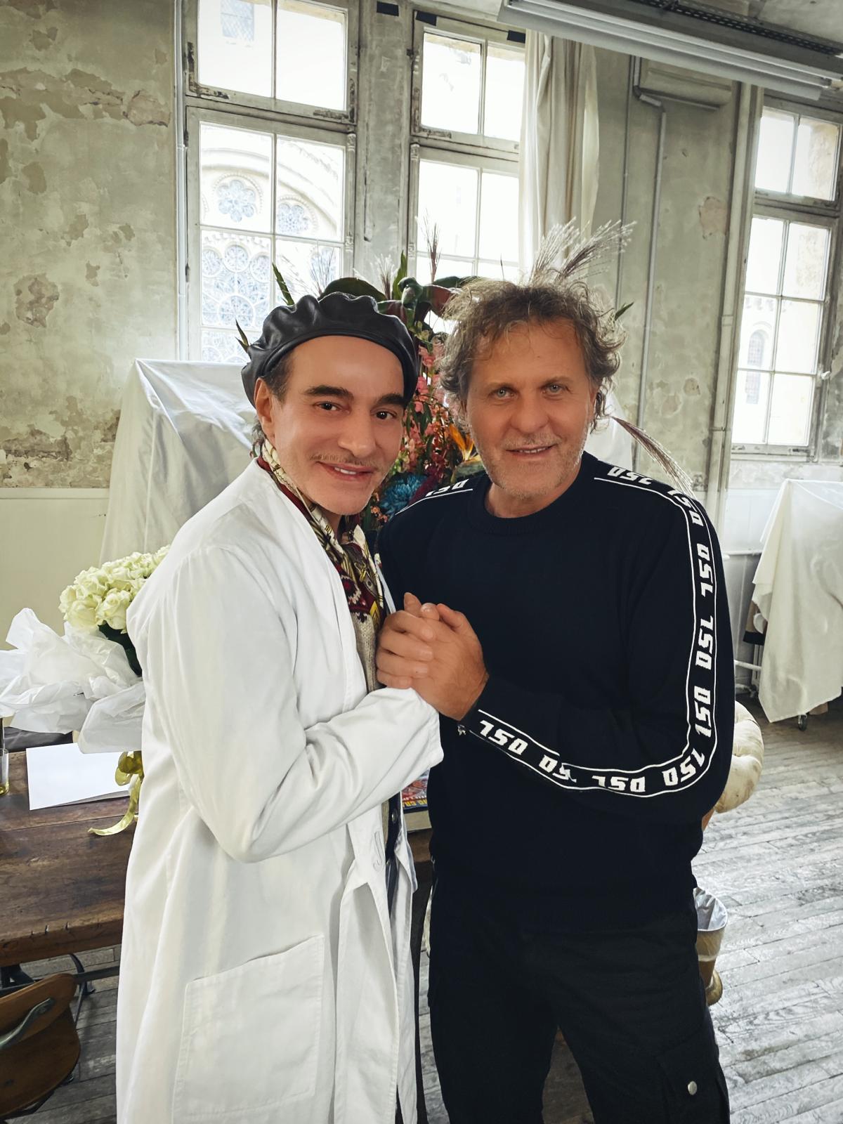 John Galliano and Renzo Rosso