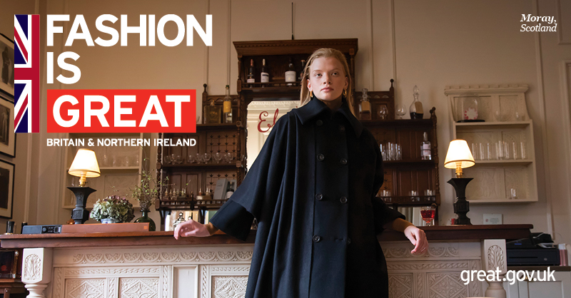 An image from the Great Britain and Ireland campaign, featuring Johnstons of Elgin.