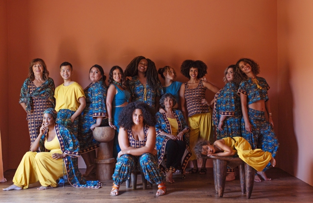 Some looks from We Wild, with Justina Blakeney, center.