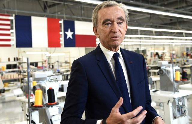 Bernard Arnault at the Louis Vuitton Factory in Texas.