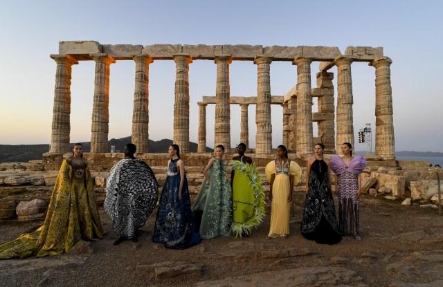 Mary Katrantzouwomenswear, summer 2020show 2Athens, Sounion, Temple of Poseidon