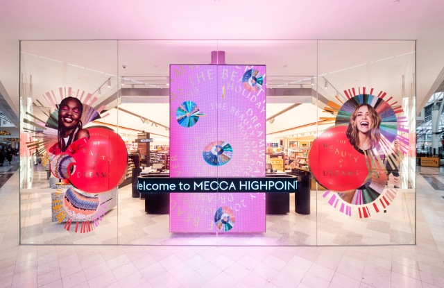The new Mecca store at the Highpoint shopping centre outside Melbourne, which opened on Friday.