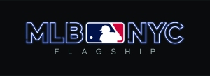 The logo for the new MLB store.