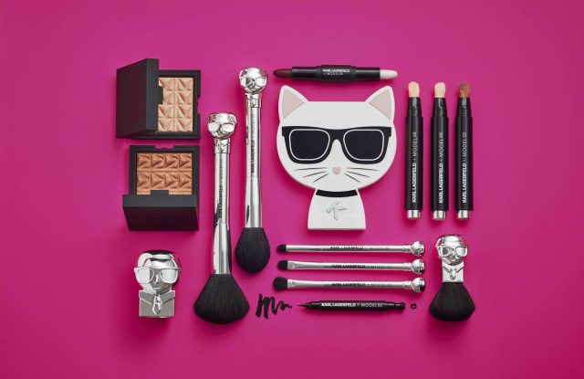Products from the 2018 Karl Lagerfeld for ModelCo beauty line.