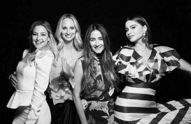 Kate Hudson, Lauren Santo Domingo, Johanna Ortiz and Sofia Vergara at a Moda Operandi dinner in Los Angeles.