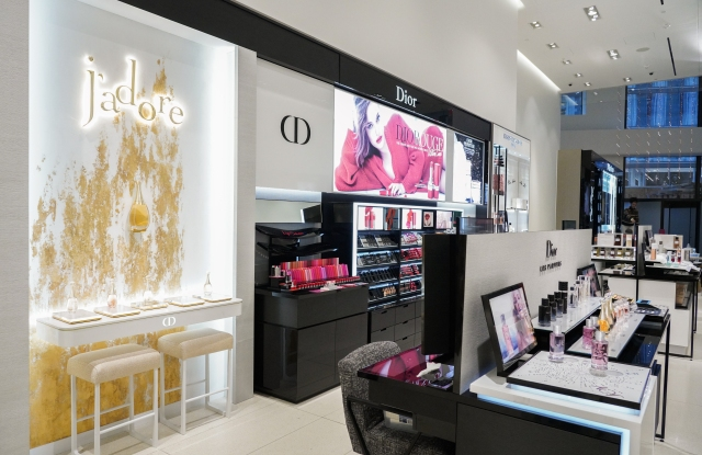 A view of the Dior beauty counter.