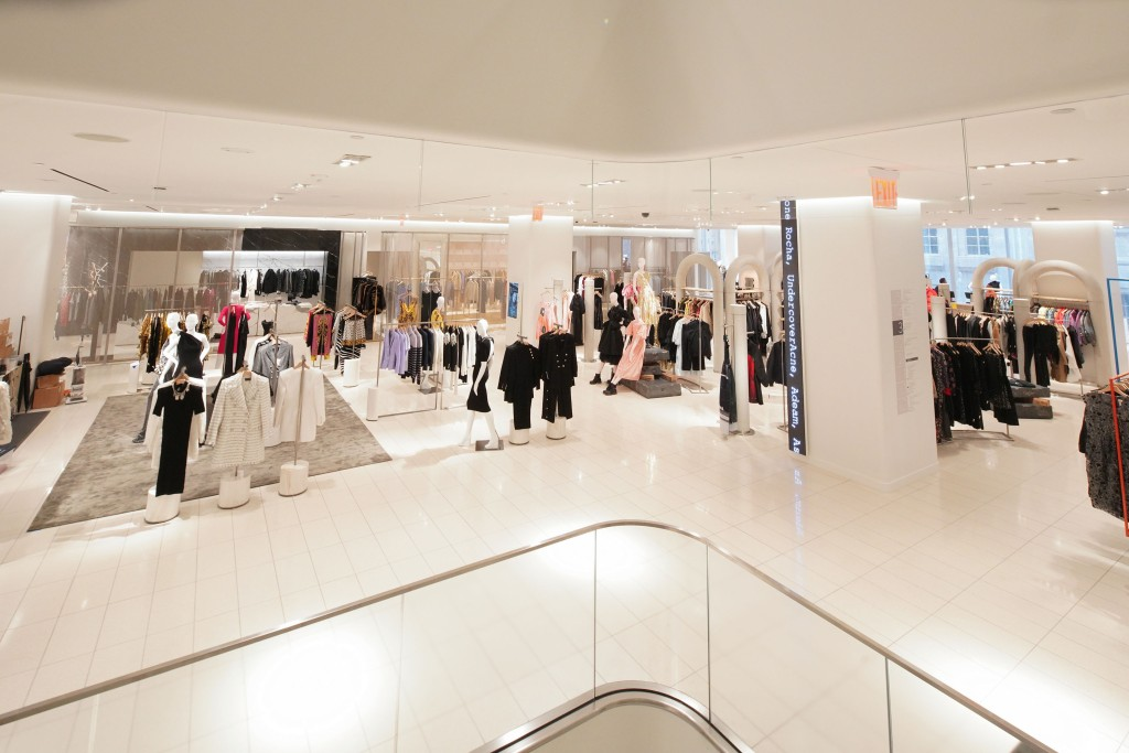 A women's section at the Nordstrom women's flagship in Manhattan.