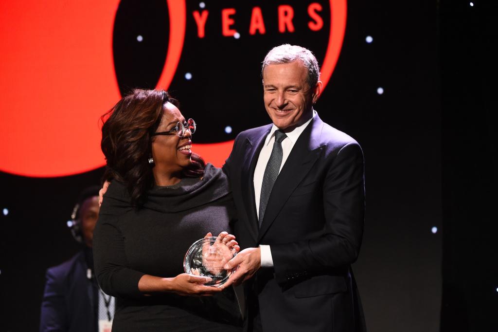 Oprah Winfrey and Robert Iger