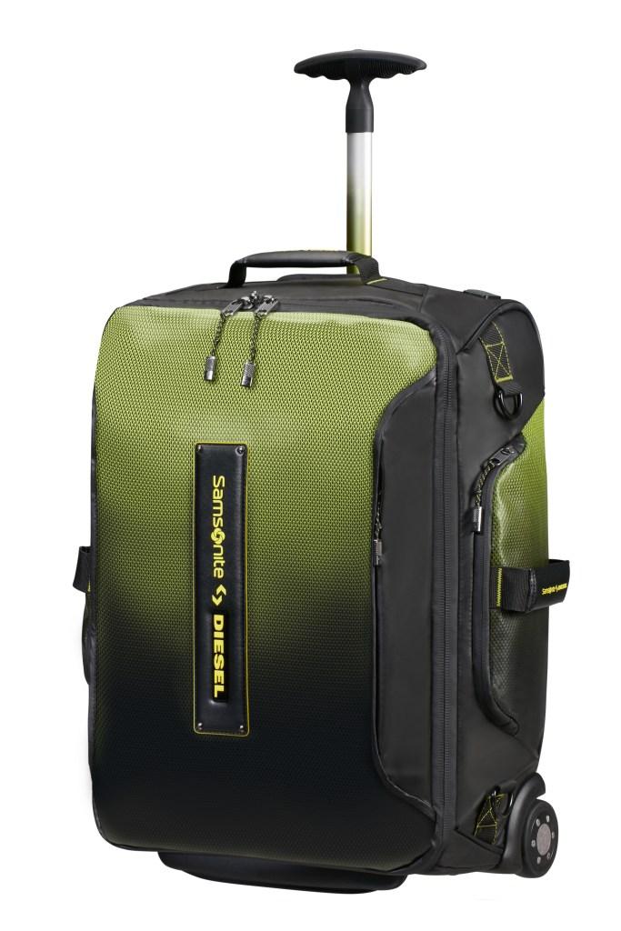 A Samsonite x Diesel wheeled backpack.