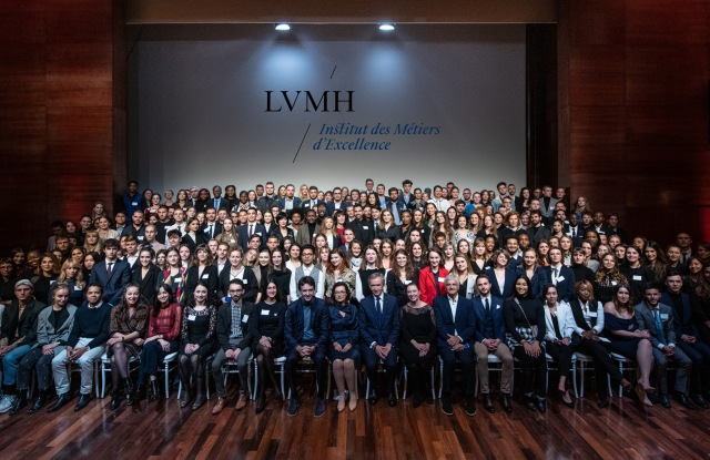 LVMH welcomed 300 new apprentices at the IME on Tuesday.