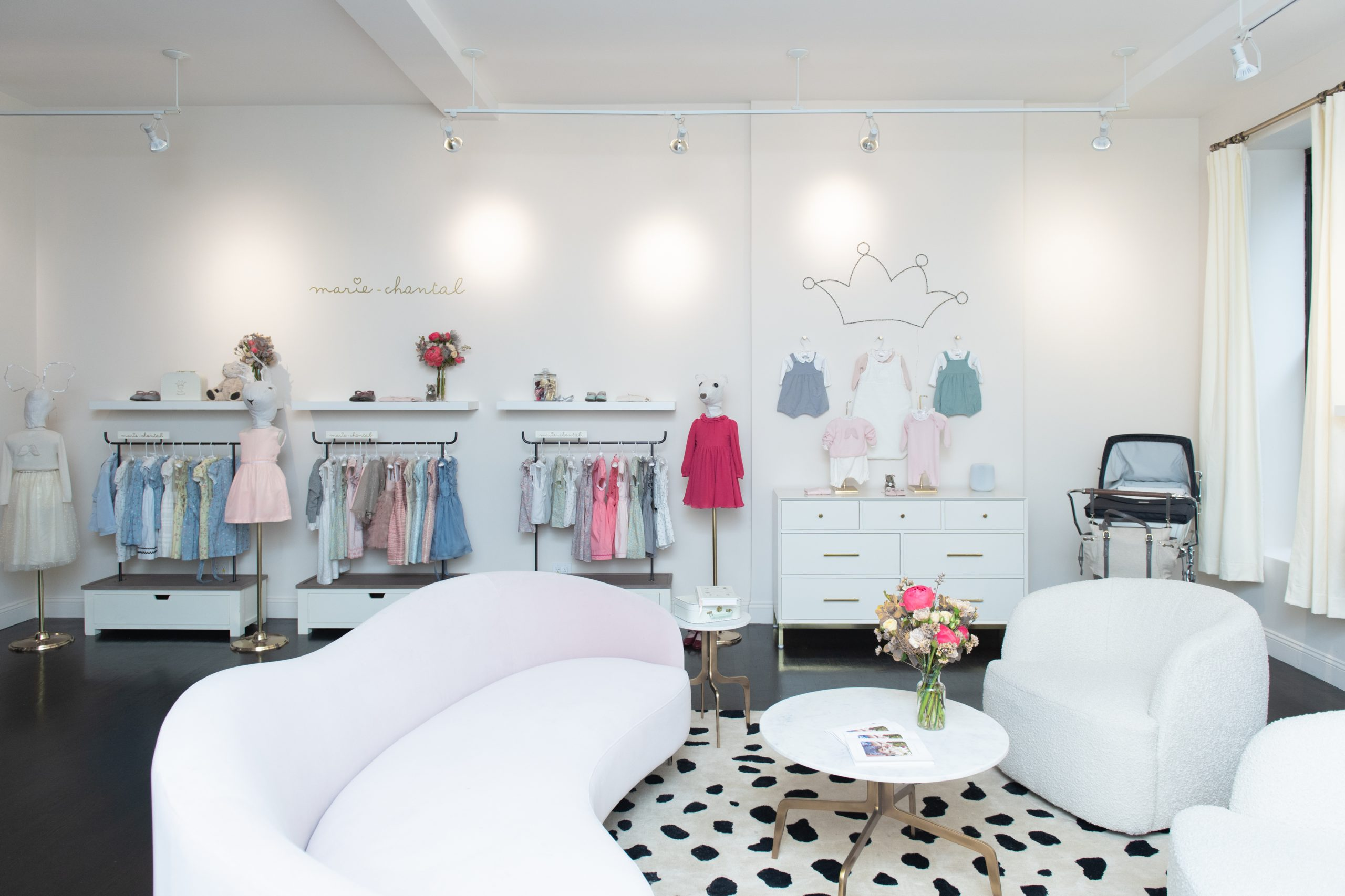 The interior of the Marie-Chantal by-appointment showroom.