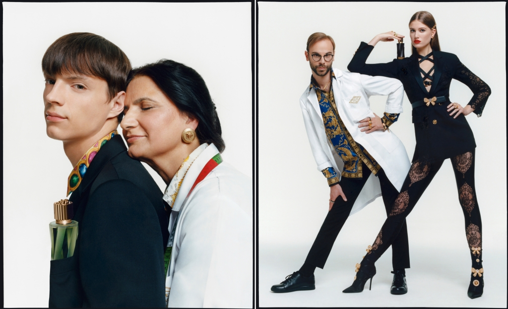 The Atelier Versace fragrance line's campaign.