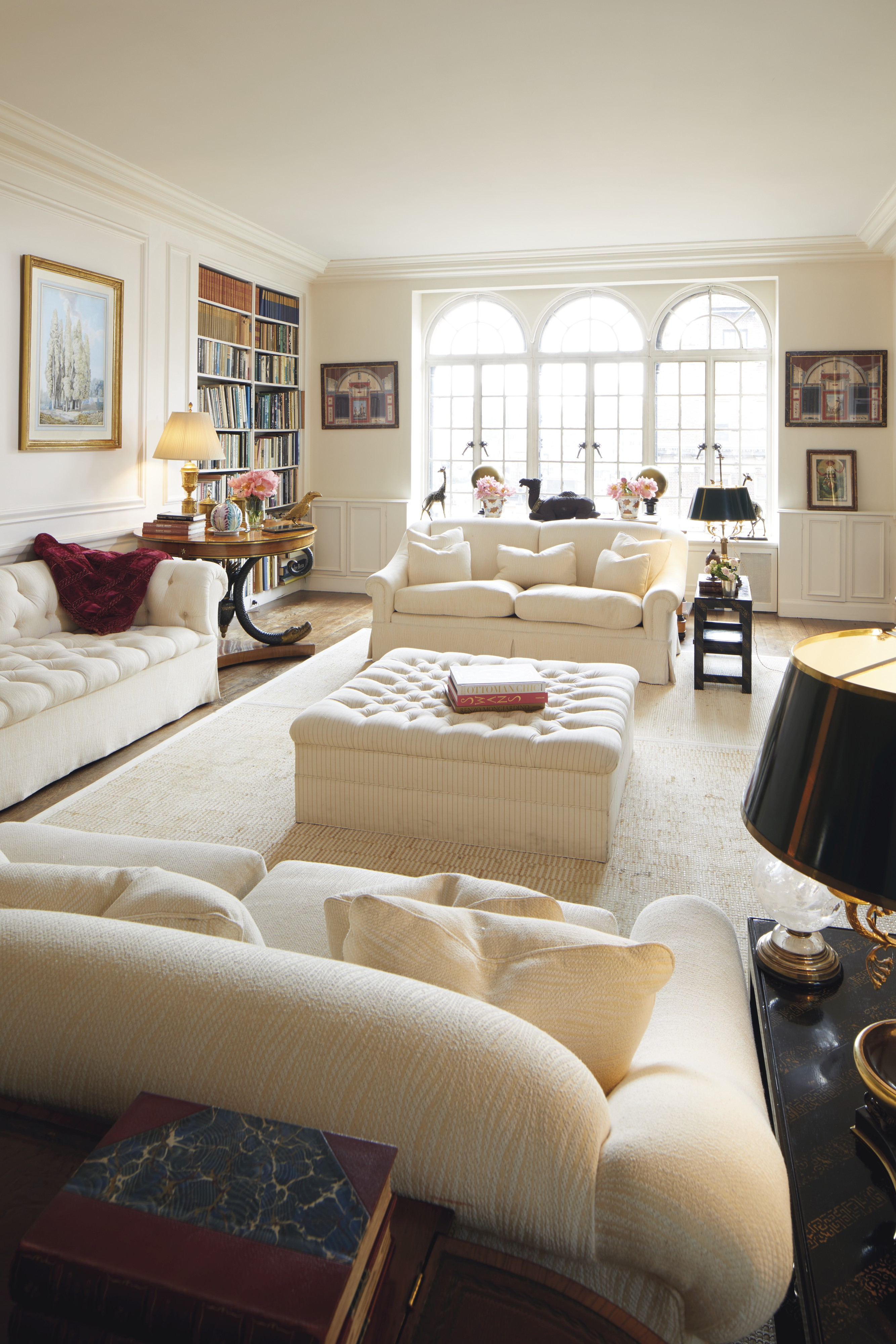 Select items from Lee Radziwill's living room will be auctioned October 17 at Christie's.