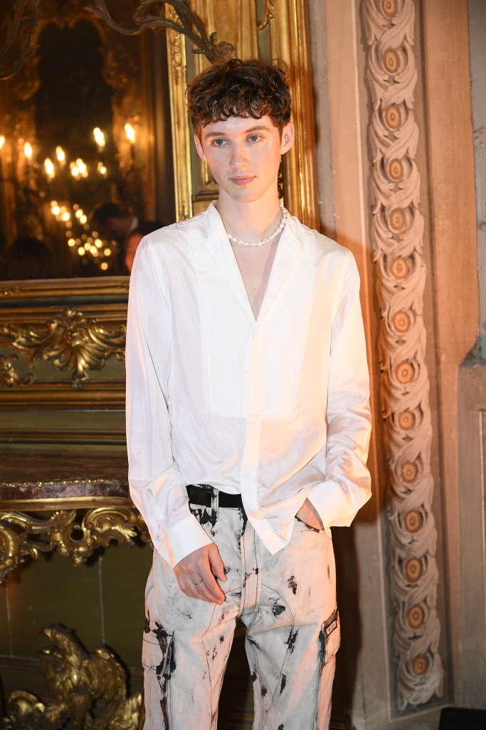 Troye Sivan at the Giambattista Valli x H&M Show in Rome