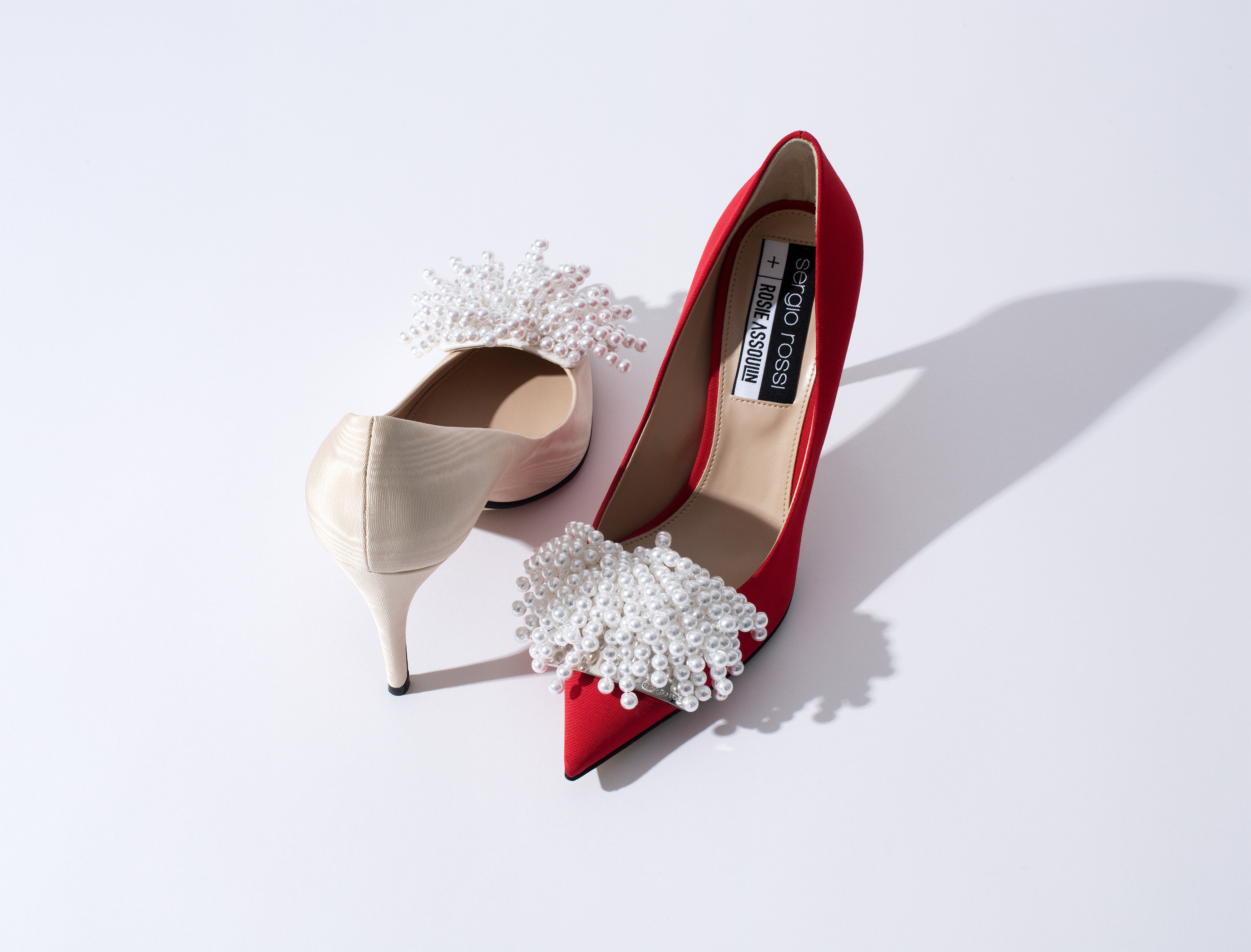 Pumps from the Sergio Rossi + Rosie Assoulin capsule collection.