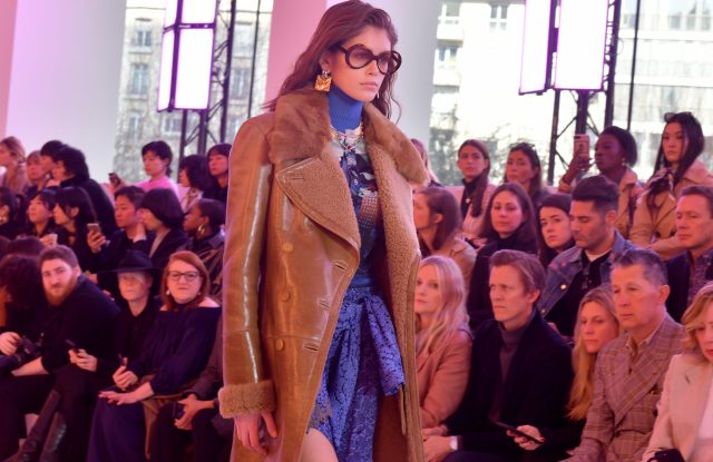 Kaia Gerber on the catwalkChloe show, Runway, Fall Winter 2019, Paris Fashion Week, France - 28 Feb 2019