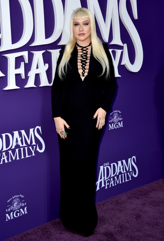 Christina Aguilera'The Addams Family' film premiere, Arrivals, Westfield Century City, Los Angeles, USA - 06 Oct 2019Wearing Tom Ford