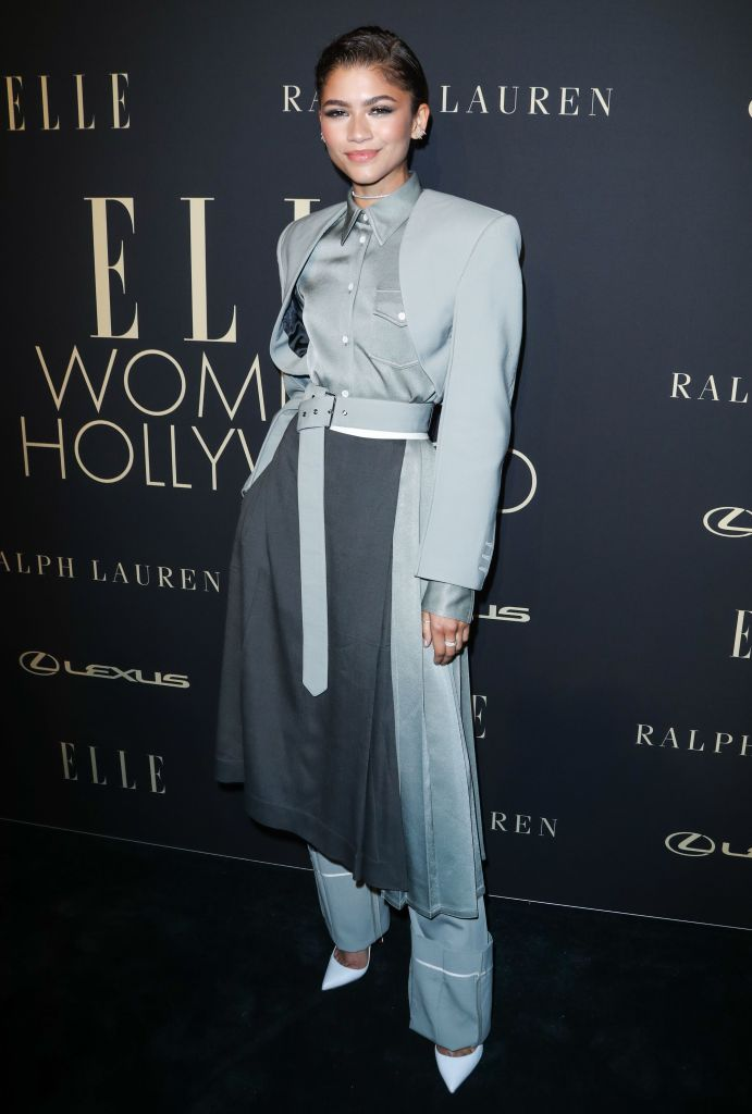 ZendayaElle Women in Hollywood, Arrivals, Four Seasons Hotel, Los Angeles, USA - 14 Oct 2019Wearing Peter Do