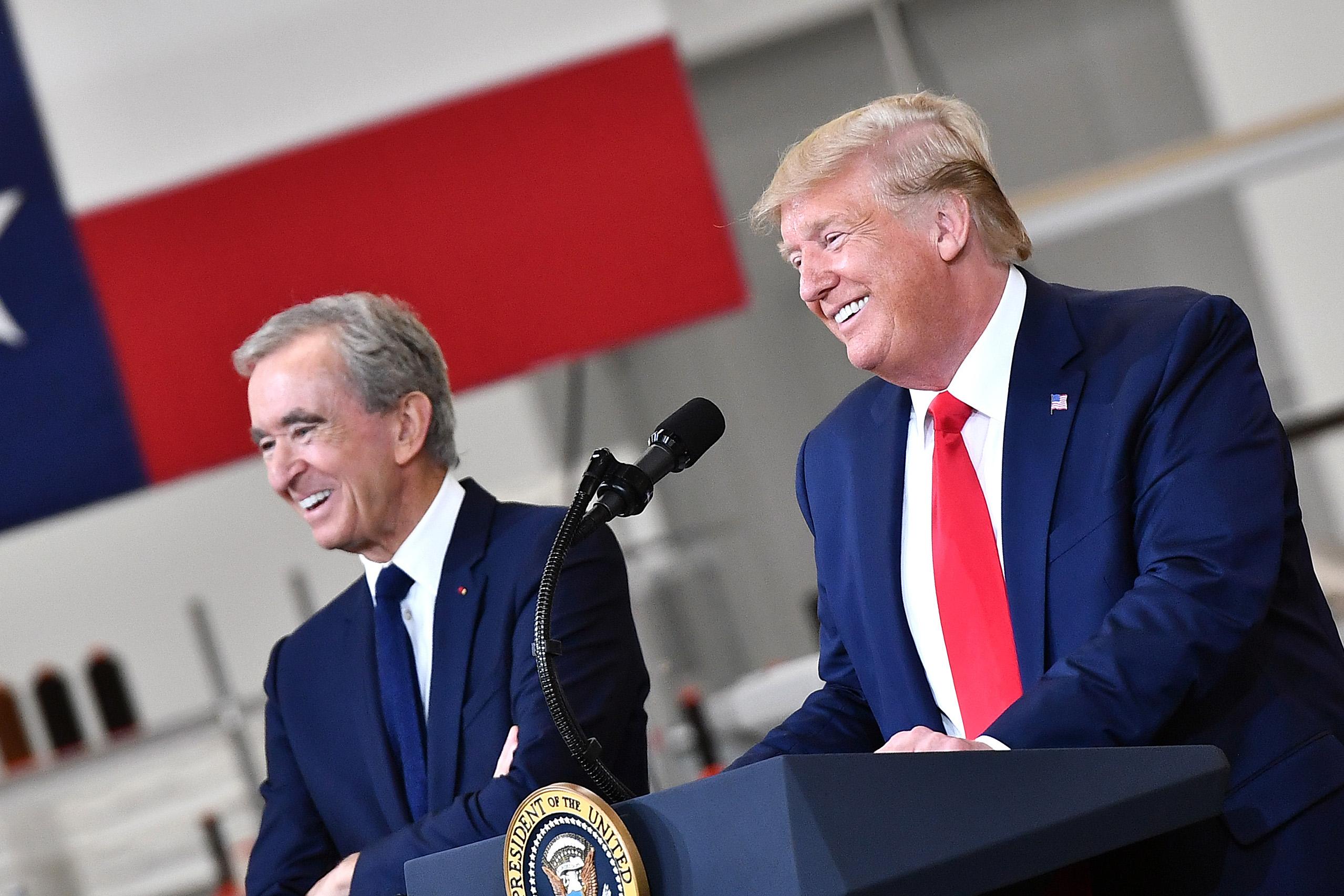 Bernard Arnault and President Donald TrumpLouis Vuitton Rochambeau Ranch Opening, Johnson County, Texas, US - 17 Oct 2019