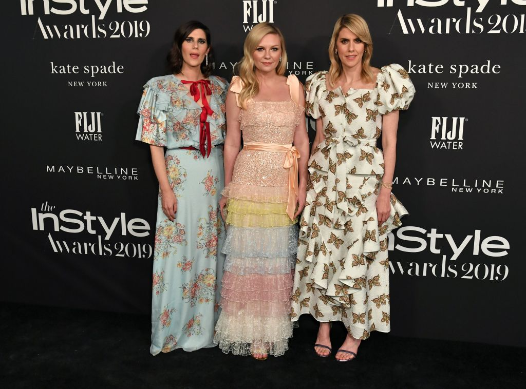 Kate Mulleavy, Kirsten Dunst and Laura Mulleavy5th Annual InStyle Awards, Arrivals, The Getty Museum, Los Angeles, USA - 21 Oct 2019 Wearing Rodarte same outfit as catwalk model *9877431p and *10083131ak