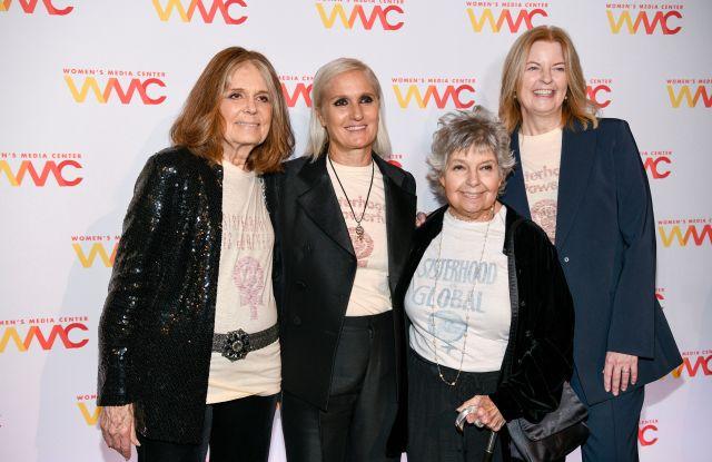 Gloria Steinem, Maria Grazia Chiuri, Robin Morgan and Julie BurtonWomen's Media Awards, Arrivals, The Mandarin Oriental Hotel, New York, USA - 22 Oct 2019