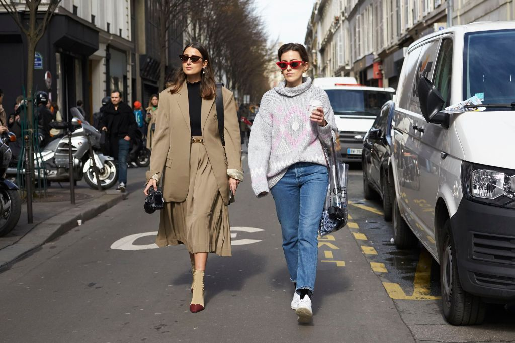 Julia Haghjoo and Sylvia HaghjooStreet Style, Fall Winter 2018, Paris Fashion Week, France - 05 Mar 2018