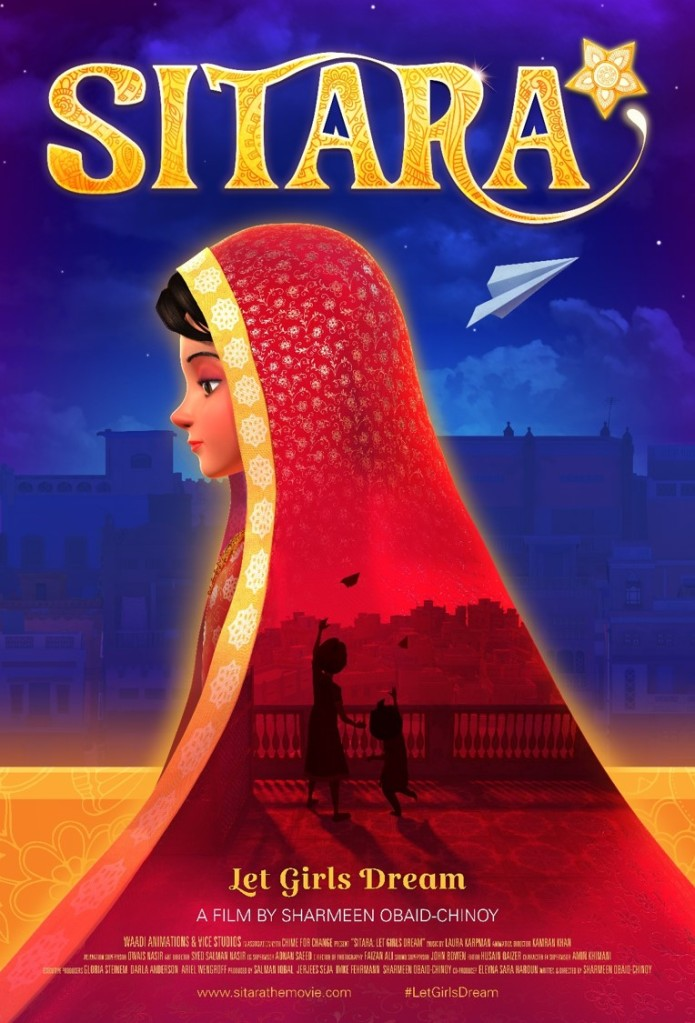 The poster for the animated short movie Sitara.