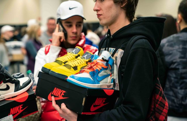 Shopping at Sneaker Con L.A. in 2018.