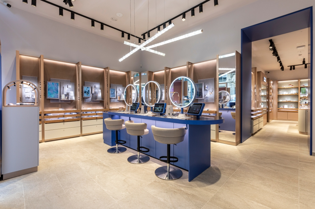 Swarovski's Crystal Studio store in Milan.