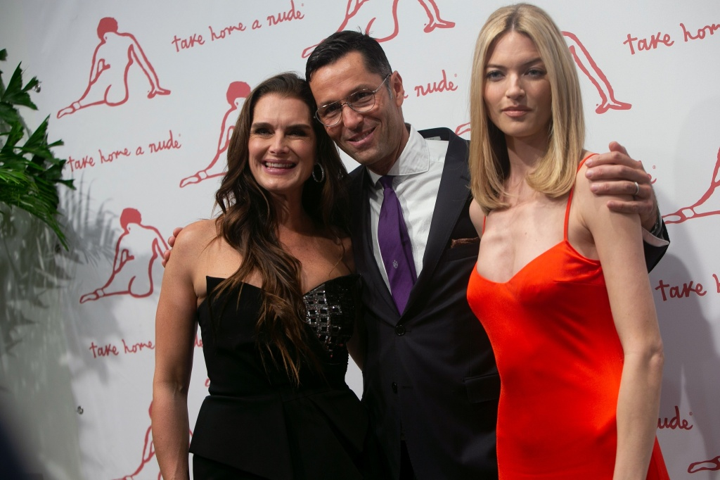Greg Unis, Brooke Shields, and Martha Hunt