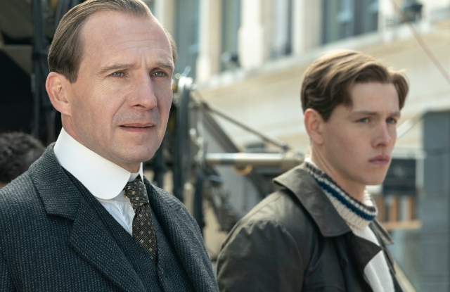 """Ralph Fiennes and Harris Dickinson in """"The King's Man."""""""