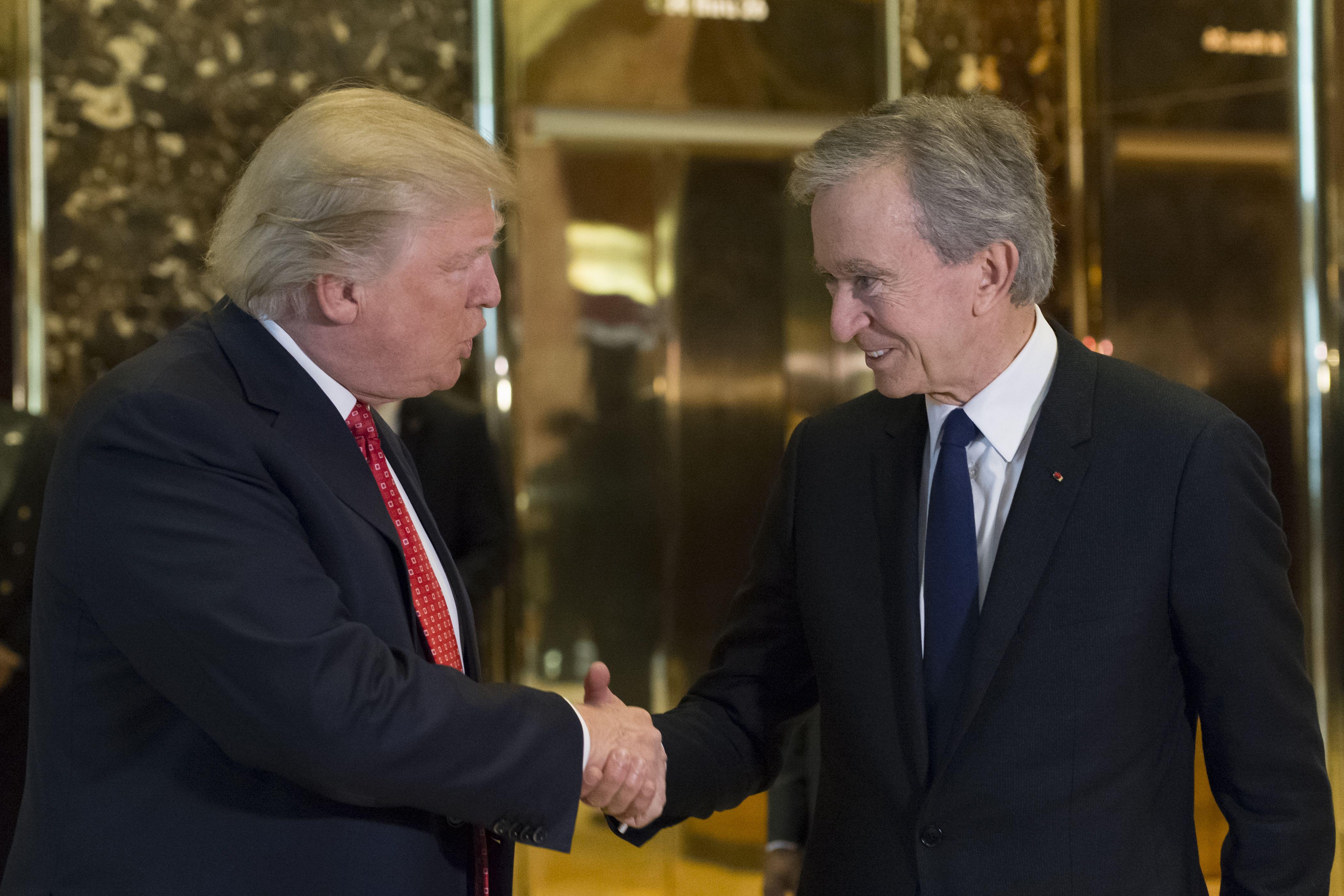 Donald Trump and Bernard Arnault