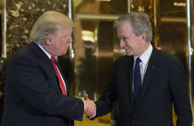 Donald Trump and Bernard Arnault