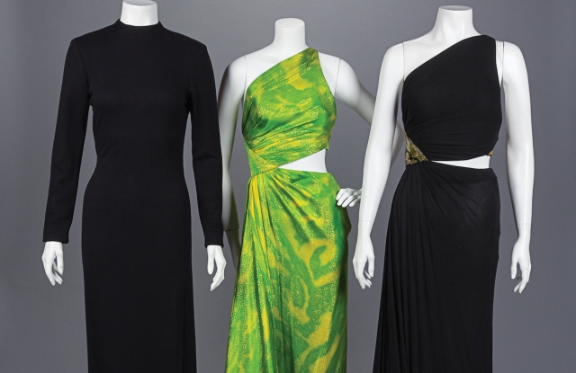 Three Geoffrey Beene dresses from 1992.