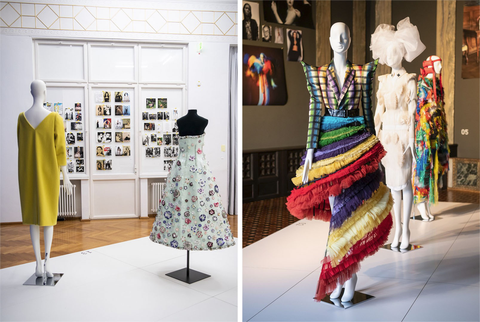 A look at Vogue Germany's fashion exhibition at Villa Stuck Museum.