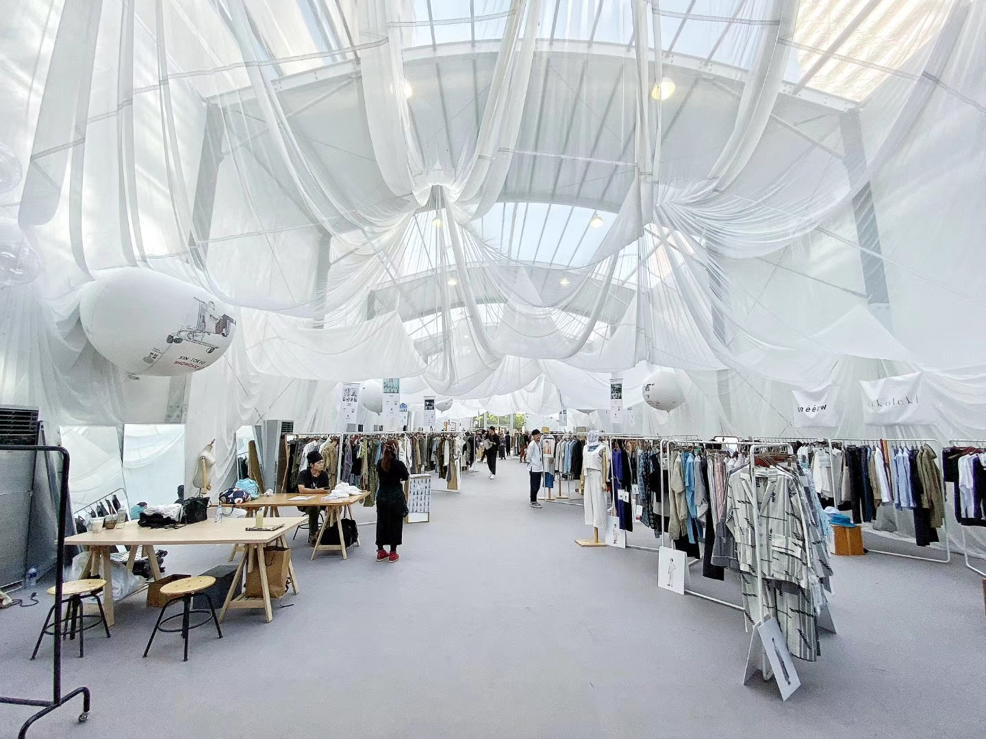Inside of Mode trade show, Shanghai Fashion Week's official trade show.