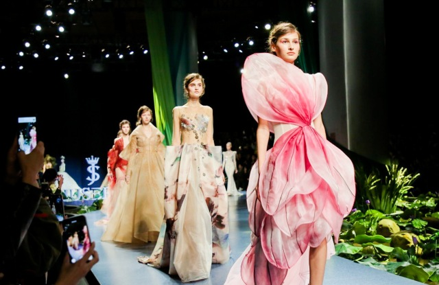 Finale of a show during China Fashion Week