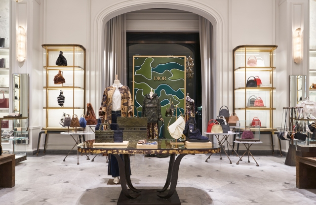 Dior's new handbag shop at Bergdorf Goodman.