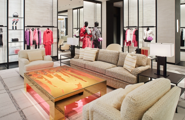 One of three ready-to-wear salons at Chanel's new Palm Beach store.