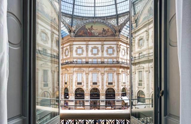 The view on Milan's Galleria Vittorio Emanuele II.