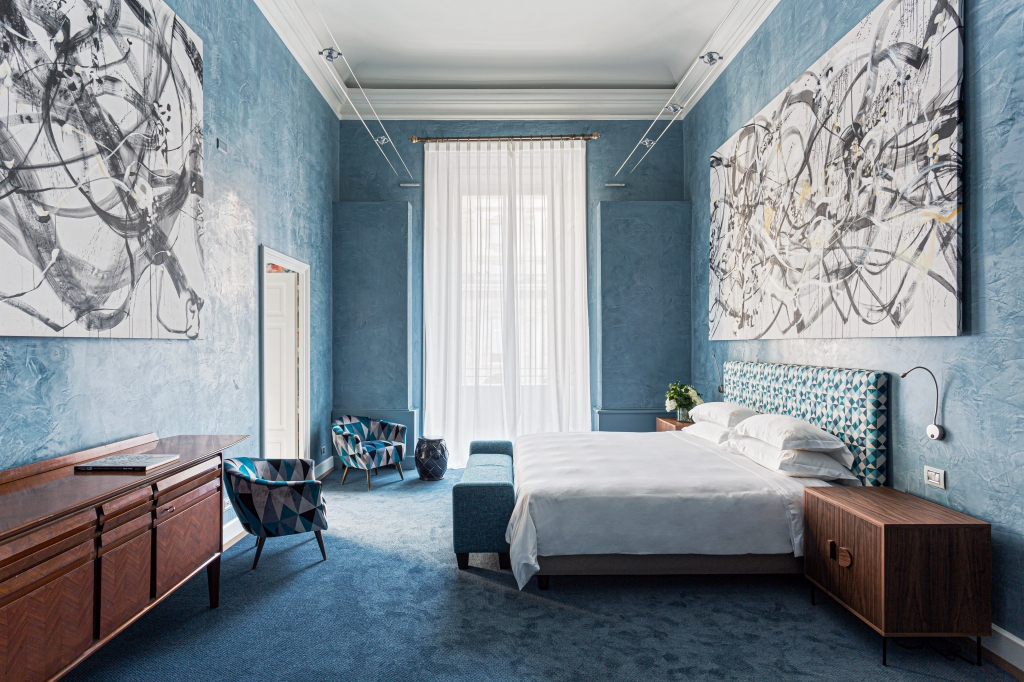 One of the rooms of the Galleria Vik Milano house with artworks by Viky B