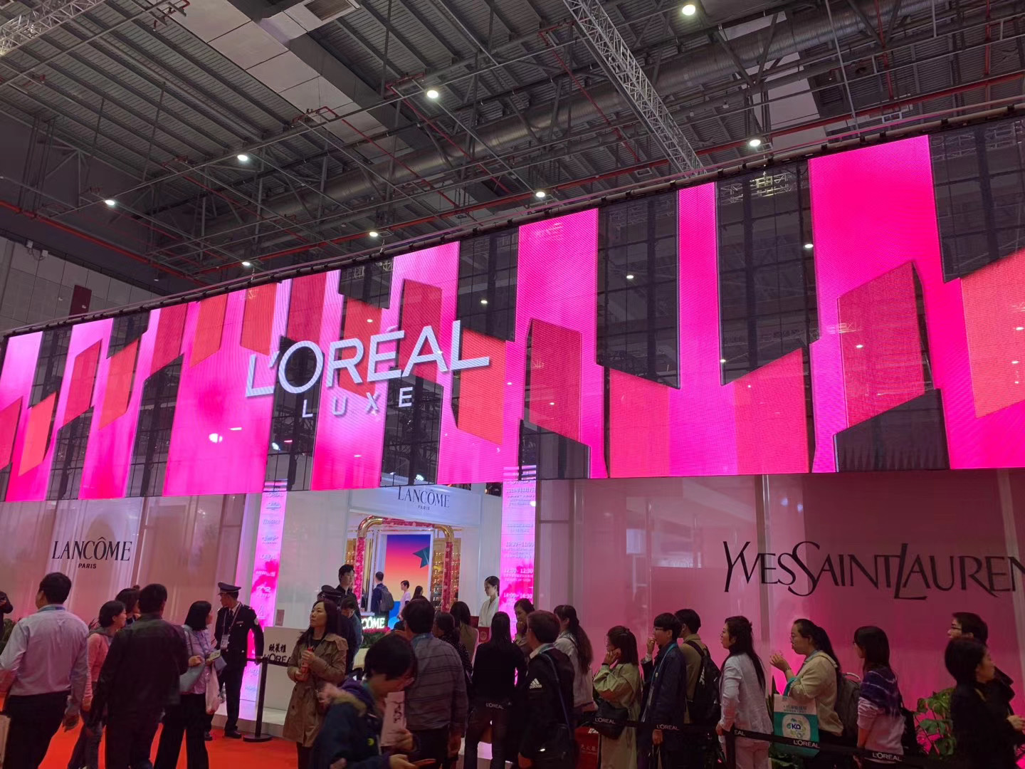 The L'Oréal pavilion at the second edition of China International Import Expo in Shanghai