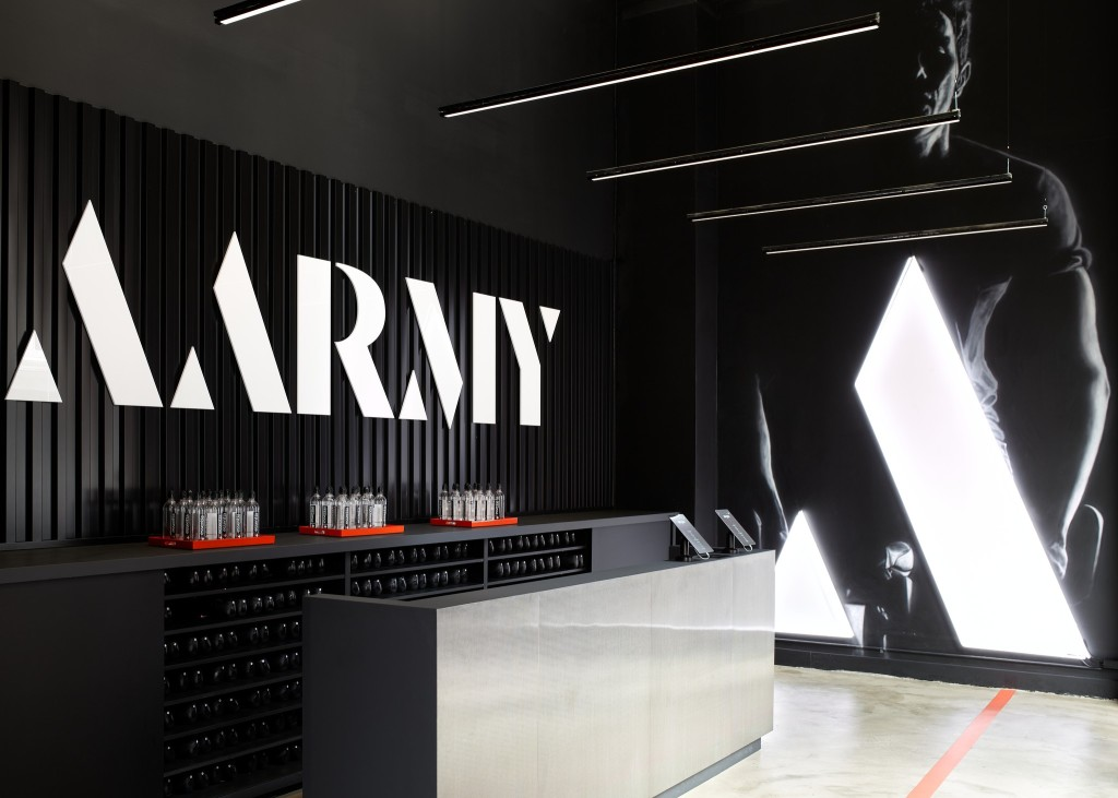 The Aarmy pop-up in New York.