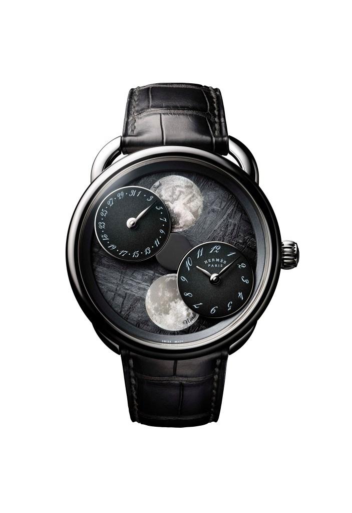 The Hermès Arceau L'Heure De La Lune watch.